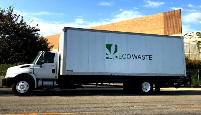 cannabis waste removal truck